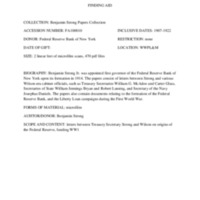 Benjamin Strong Papers finding aid.pdf